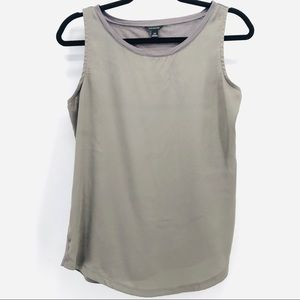 Ann Taylor Light Gray Women's Tank Top (1-00028)